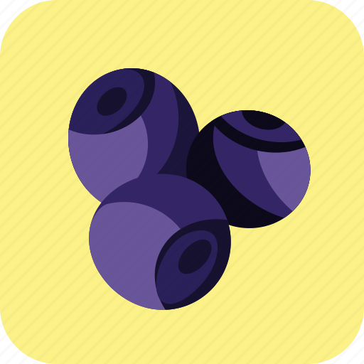 berry, bilberry, blue, blueberry, food, fruit, tasty icon