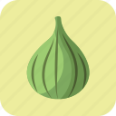 fig, food, fruit, green, nutrition, summer, vegetarian icon