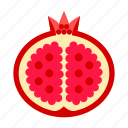 food, fruit, pomegranate icon