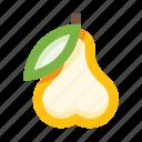 pear, fruit, food, fresh, organic, eco, leaf