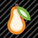 pear, fruit, food, leaf, fresh, organic, eco