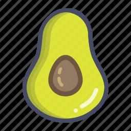 avacado, avocado, fat, fruit, healthy, saturated, vegetable icon