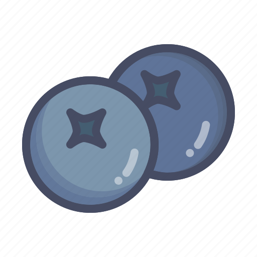berries, berry, blueberry, fruit icon
