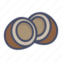 coconut, fruit, healthy, seed, shell icon