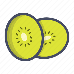 chinese gooseberry, exotic, fruit, kiwi, kiwifruit icon