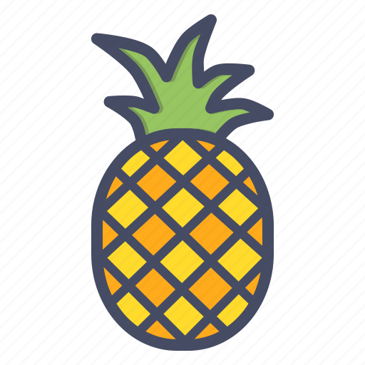 Tropical, fruit, pineapple icon