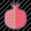 pomegranate, pom, fruit, seeds
