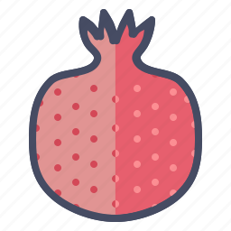 fruit, pom, pomegranate, seeds icon