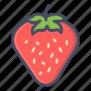 berry, fruit, strawberry