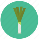 food, leech, organic, vegetable icon