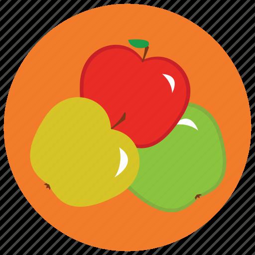 apples, food, fruit, organic icon