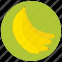 bananas, food, fruit, organic icon