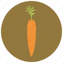 carrot, food, organic, vegetable icon