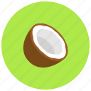 coconut, food, nut, organic icon