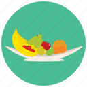 apple, banana, bowl, fruit, fruits, orange icon