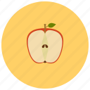 apple, food, fruit, organic icon