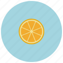 food, fruit, orange, organic icon