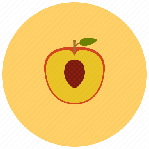 food, fruits, organic, peach icon
