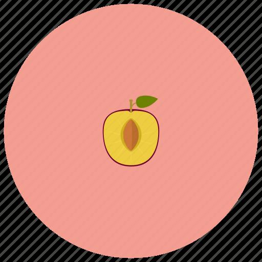 food, fruit, organic, peach icon