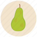food, fruit, organic, pear icon