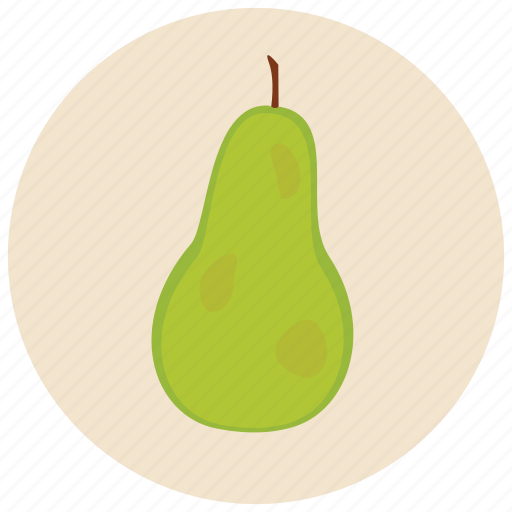 food, fruit, organic, pear icon