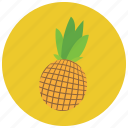 food, fruit, organic, pineapple icon