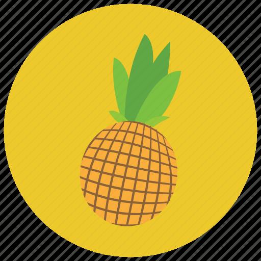 food, fruit, organic, pineapple icon