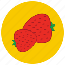 food, fruit, organic, strawberries icon