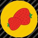 food, fruit, organic, strawberries