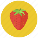 food, fruits, organic, strawberry, sweet icon