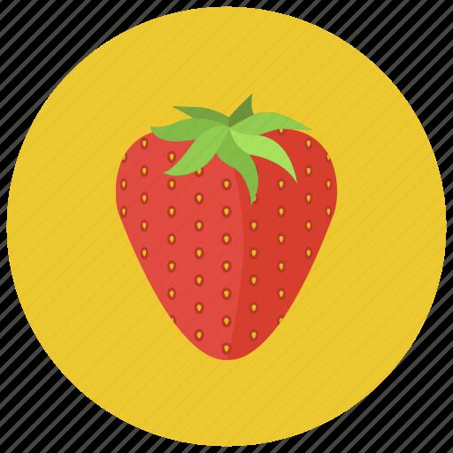 food, fruits, organic, strawberry, sweet icon