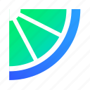 lime, cocktail, piece, fresh icon