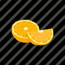 citrus fruit, dessert, fruit, orange, plant, vitamins icon