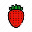 fresh, fruit, fruits, natural, strawberry icon