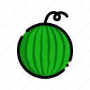fresh, fruit, fruits, natural, watermelon icon
