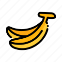 banana, fresh, fruit, fruits, natural icon