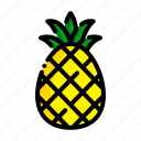 fresh, fruit, fruits, natural, pineapple icon