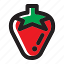 berry, food, fruit, organic, strawberry icon