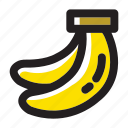 banana, banana bunch, bananas, food, fruit, healthy, organic icon