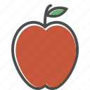 apple, food, fruit, healthy, organic icon