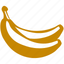 banana, food, fruit, healthy, sweet, tropical icon