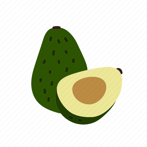 avocado, farm, food, fruit, nature, organic icon