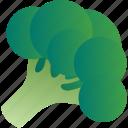 broccoli, cabbage, cauliflower, cole, healthy, vegetable, vegetarian icon
