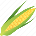 corn, food, healthy, maize, vegetable, vegetarian icon