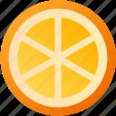 food, fruit, healthy, orange, vegetarian icon