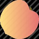food, fruit, healthy, peach, vegetarian icon