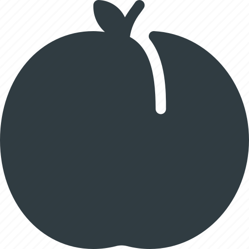 Food, healthy, fruit, health, peach icon - Download