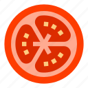 cooking, food, pomodoro, slice, tomato, vegetable icon