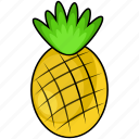 fruit, pineapple, sweet icon