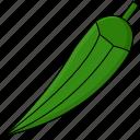 food, okra, vegetable icon